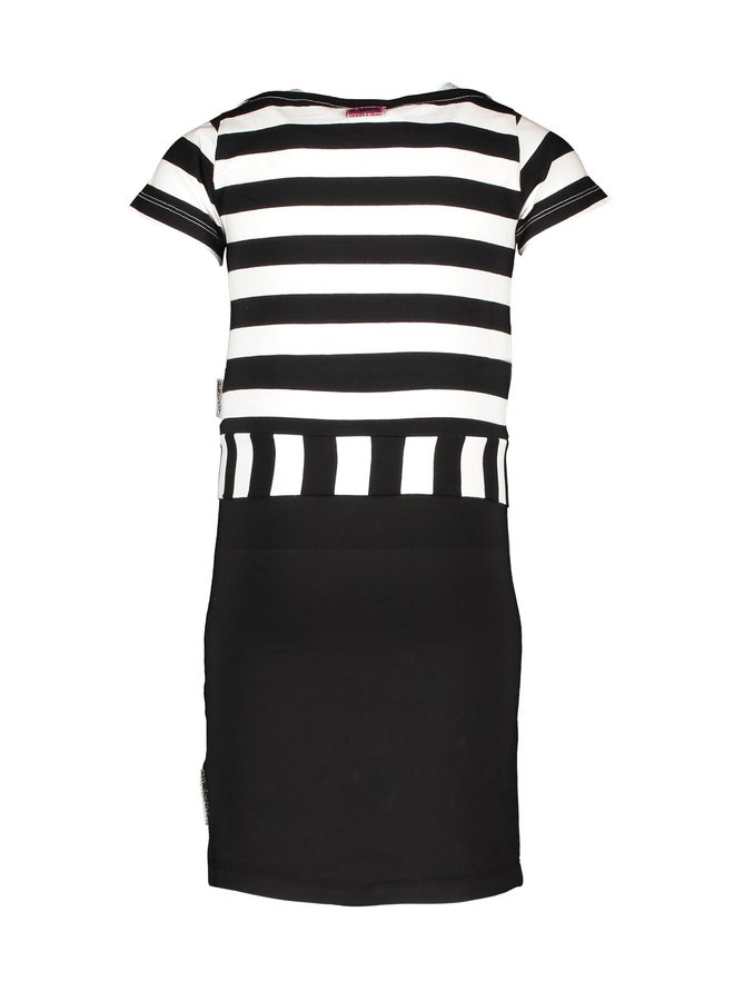 B.Nosy - 2 in 1 Tanktop Dress With Knot Shirt - Black