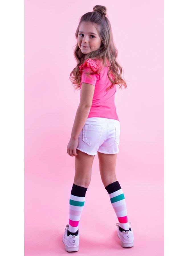 B.Nosy - Stripe Socks - Snow White