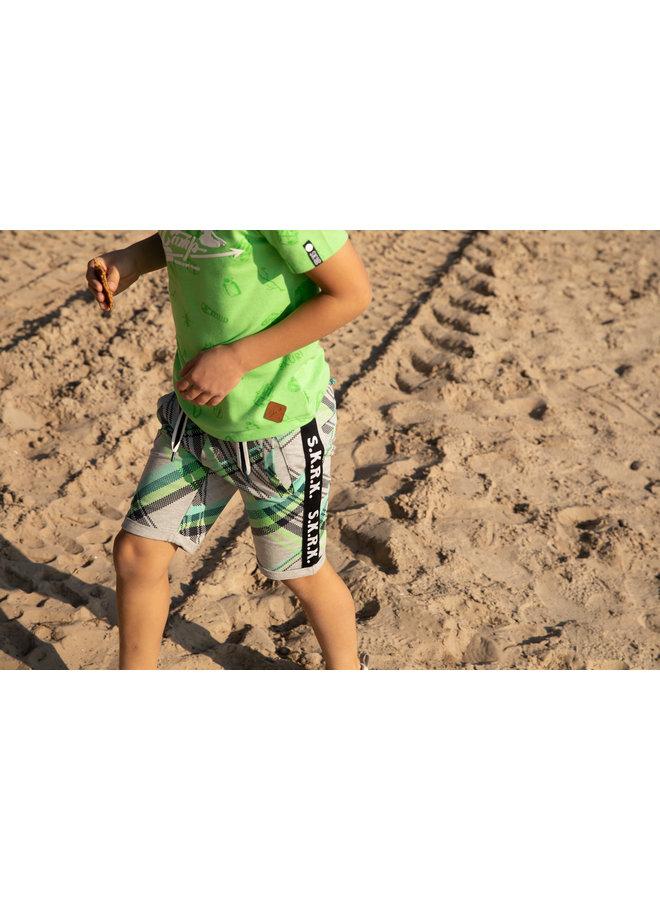 SKURK - Shirt Tren - Neon Green