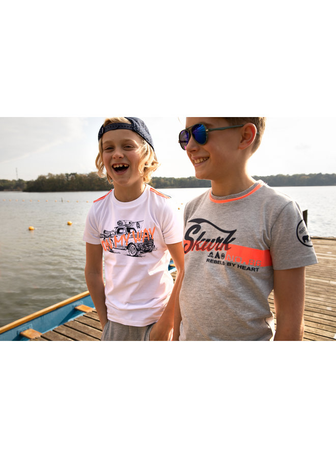 SKURK - Shirt Tibbe - Grey Melange
