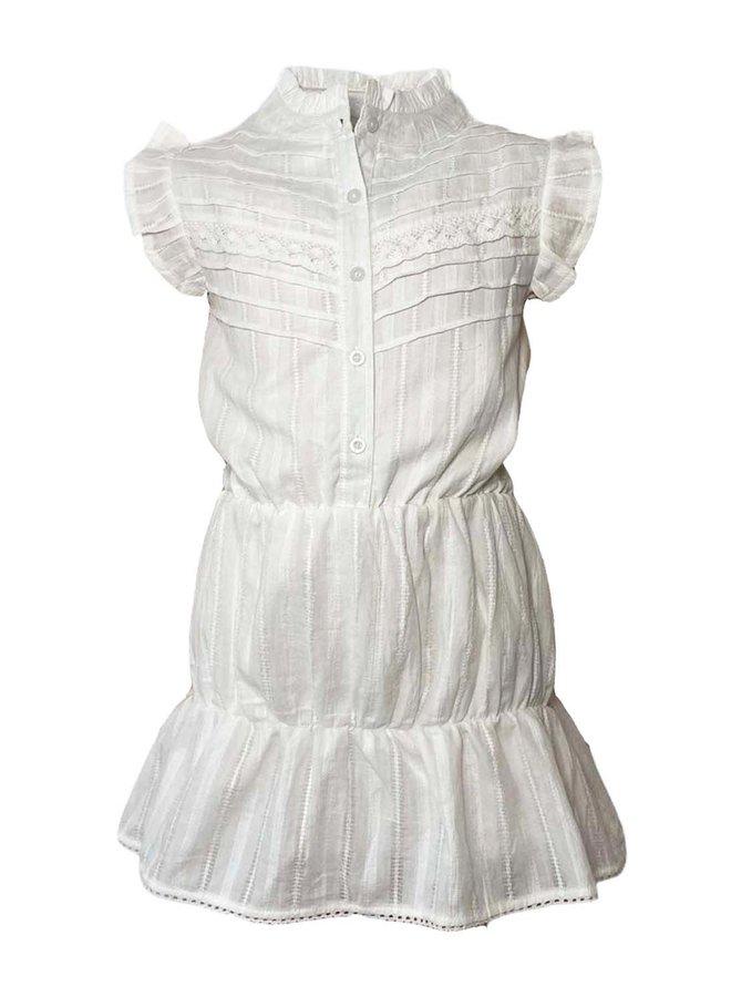 Topitm - Dot Lace Dress - Off White