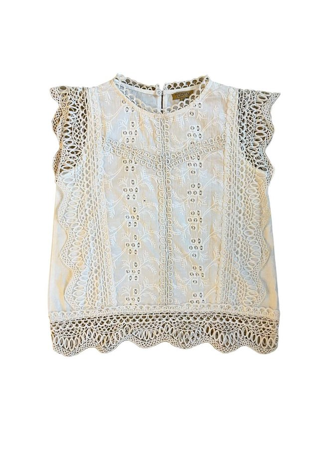 Topitm - Saar Lace Blouse - Off White