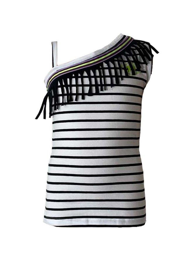 Topitm - Sofie Tanktop - Stripe Black