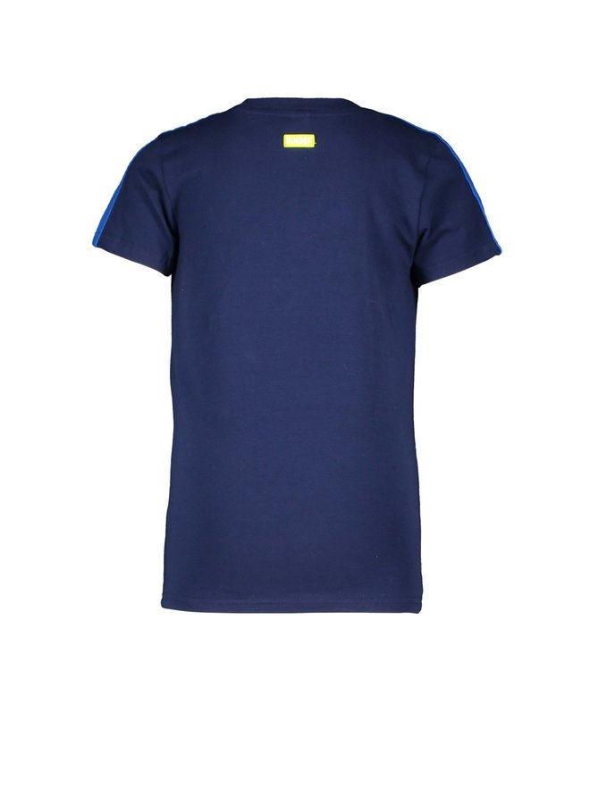 B.Nosy - Shirt With Slanted Top Part And Sunglass Embro - Space Blue
