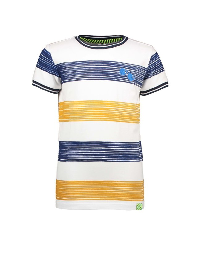 B.Nosy - Shirt With Printed Panel Stripe - Mustard