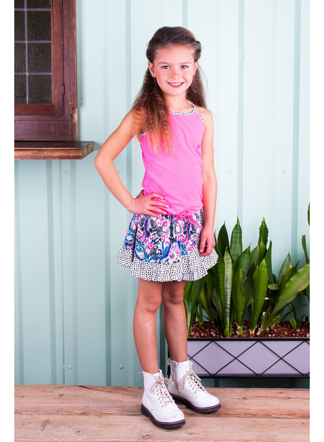 B.Nosy - Tanktop With Knot And Contrast Binding - Sugar Plum