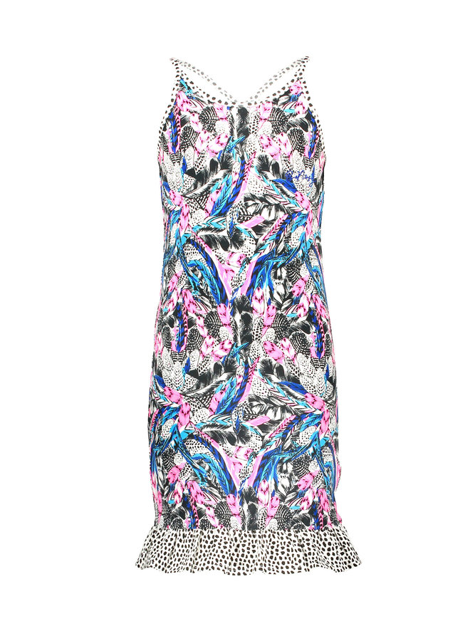 B.Nosy - Dress With Contrast Ruffle - Fash Feathers
