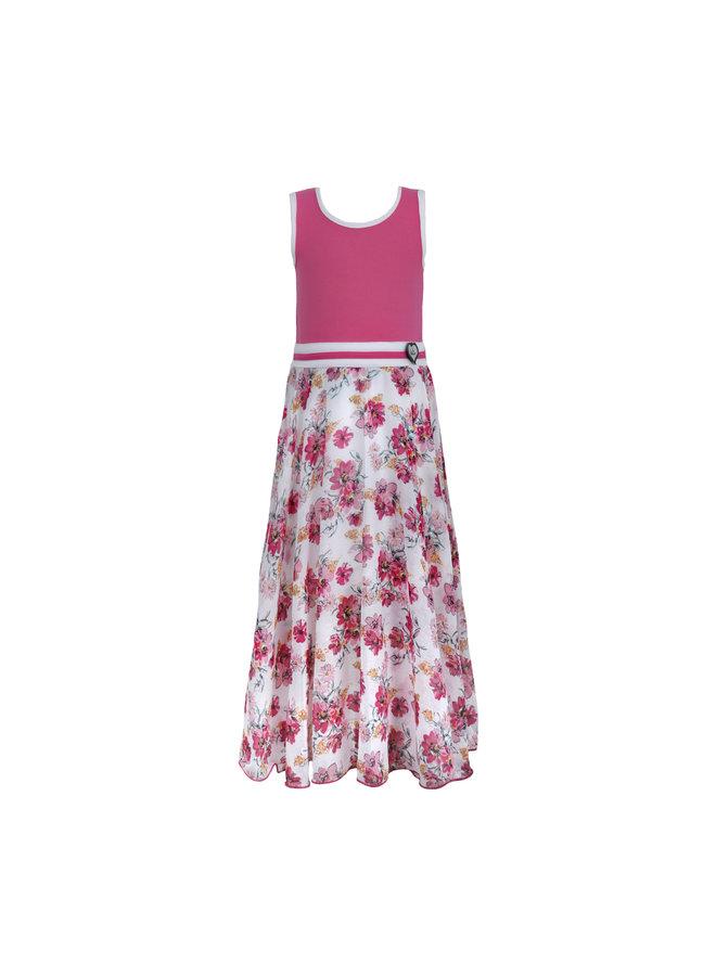 LoFff - Maxi Dress  - Multiflower White