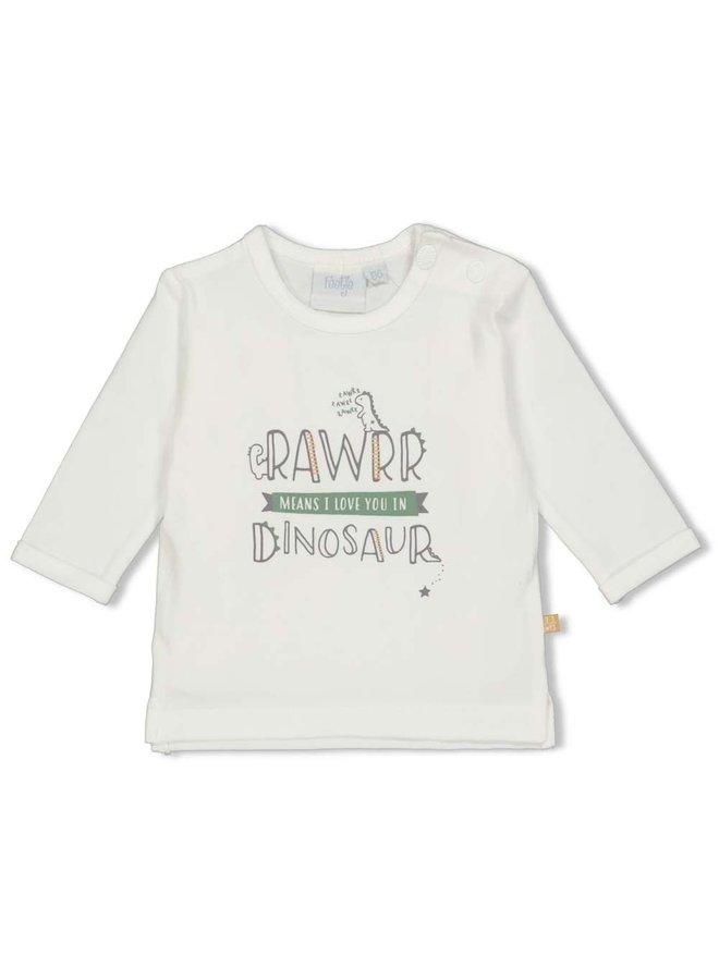 Feetje - Longsleeve Rawrr Offwhite - Dinomite