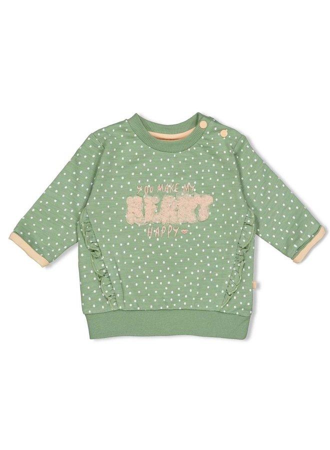 Feetje - Sweater AOP Groen - Hearts