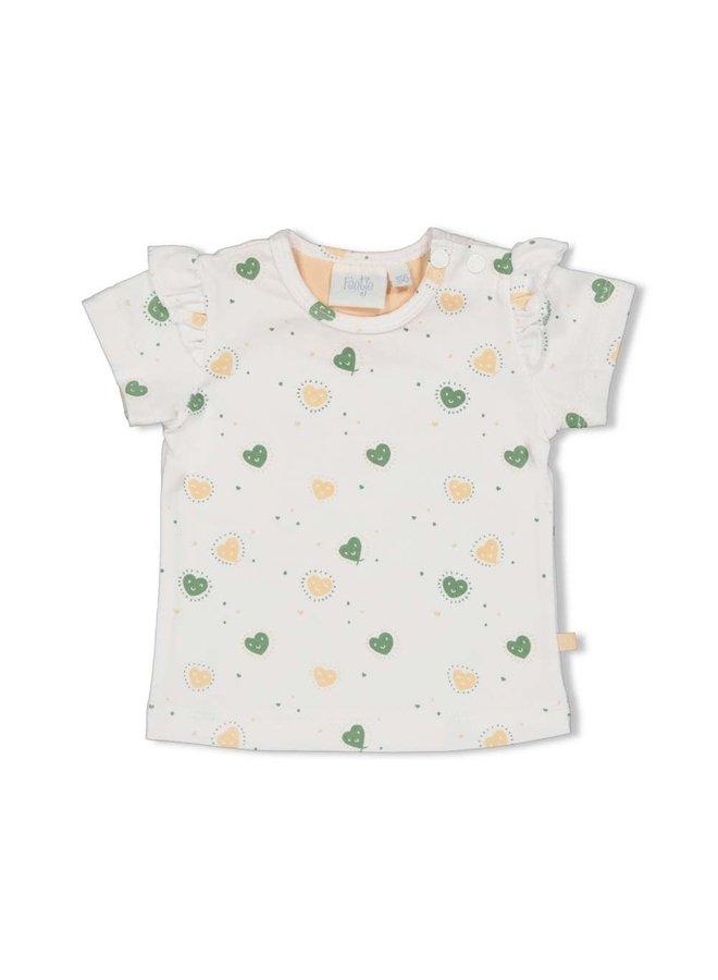 Feetje - T-shirt AOP Wit - Hearts