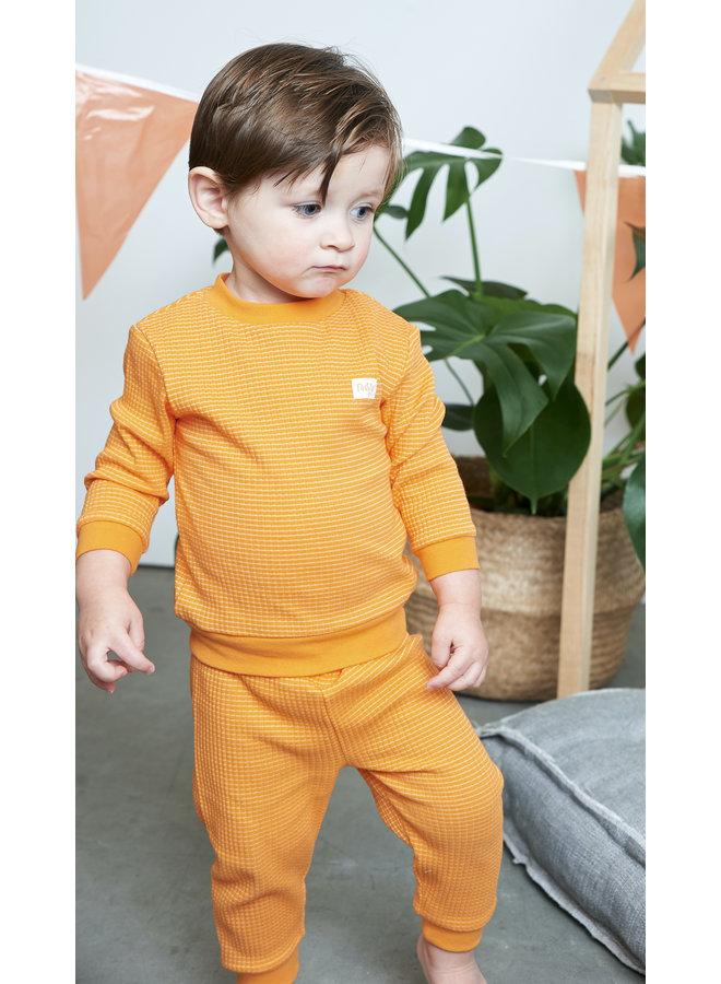 Feetje - Baby Pyjama Wafel - Oranje