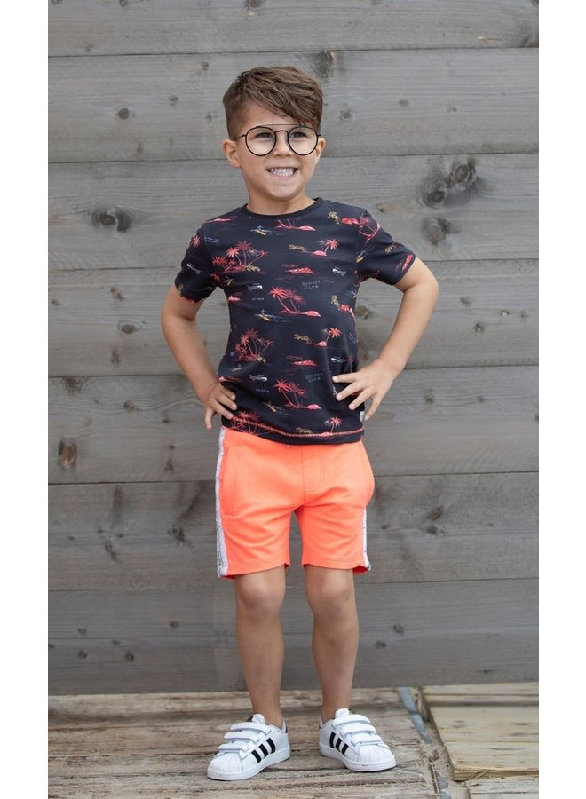 Sturdy - T-shirt AOP Antraciet - Happy Camper