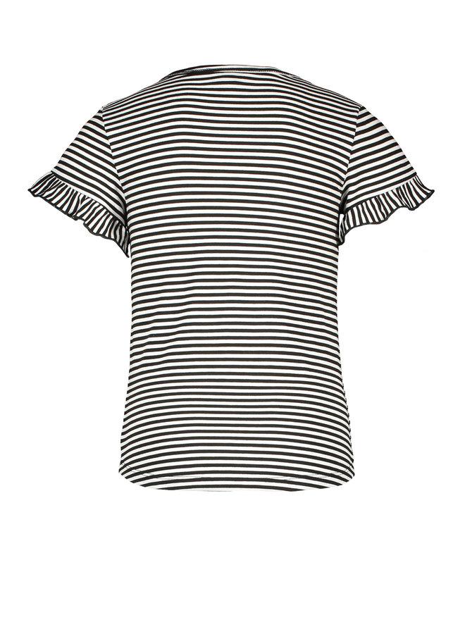 Like Flo - Fancy Ruffle Shirt - Stripe