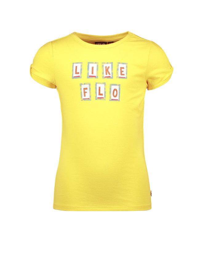 Like Flo - Shirt Open Shoulder - Lemon