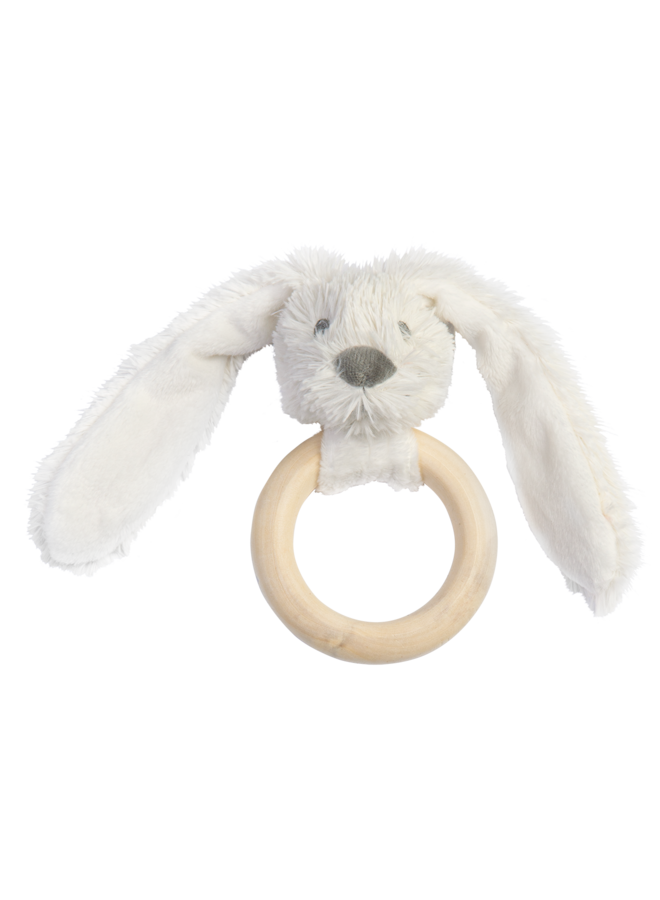 Happy Horse - Ivory Rabbit Richie FSC Wooden Teething Ring
