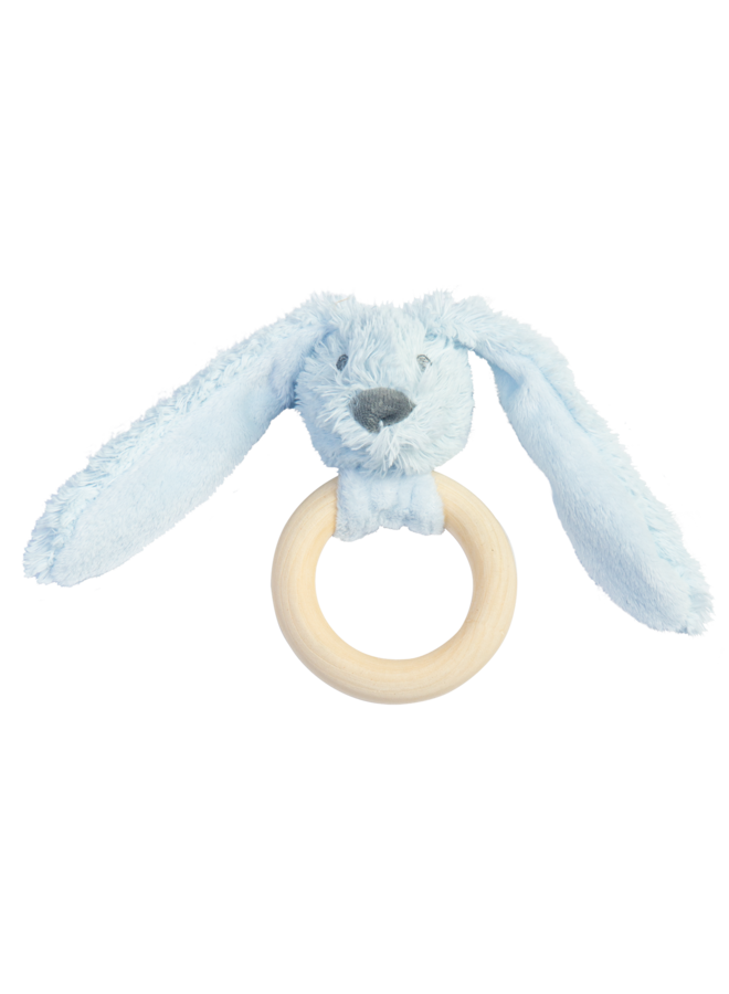 Happy Horse - Blue Rabbit Richie FSC Wooden Teething Ring