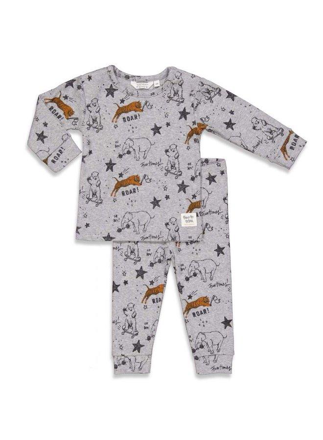 Feetje-Baby Pyjama Roar Riley Grijs Melange