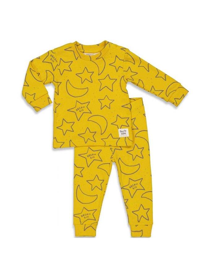 Feetje-Baby Pyjama Star Skylar Okergeel