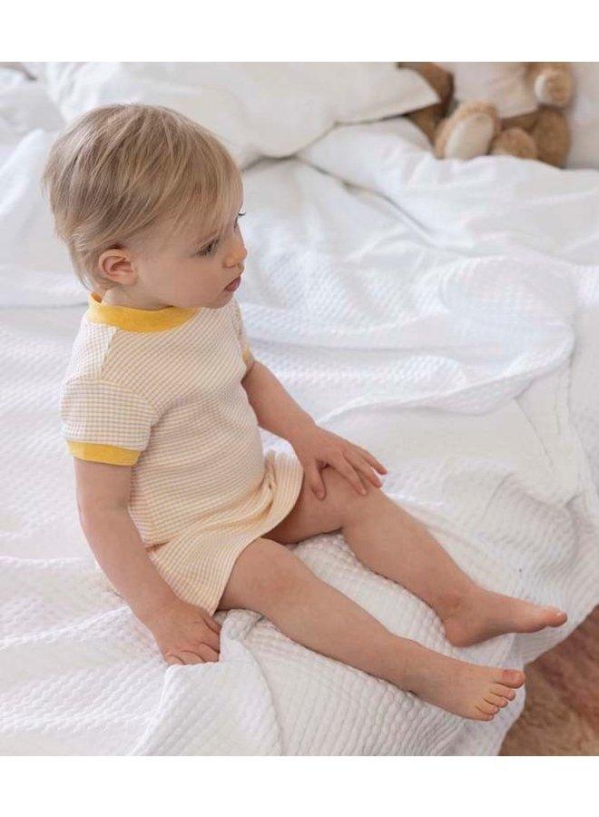 Feetje - Baby Nachthemd Wafel - Okergeel