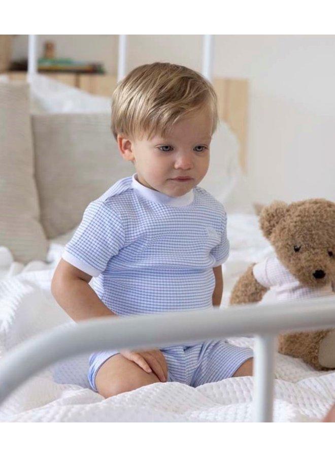Feetje - Baby Zomer Pyjama Wafel - Blauw
