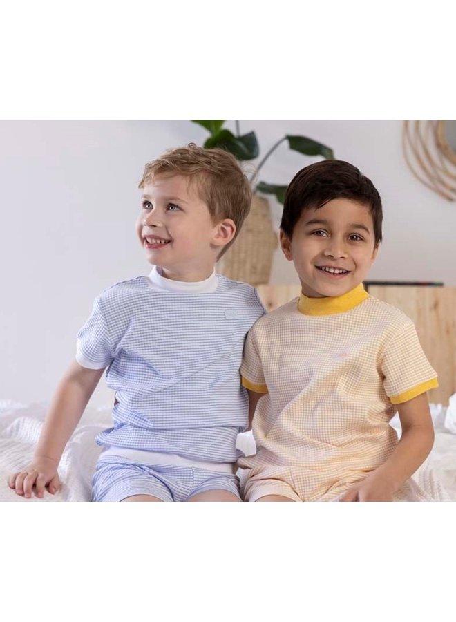 Feetje - Zomer Pyjama Wafel - Blauw