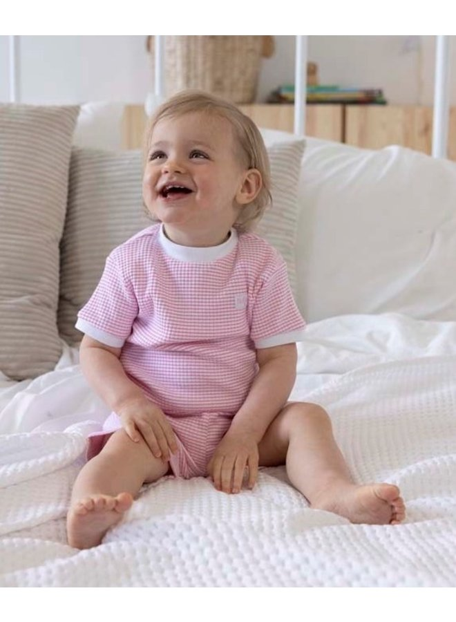 Feetje - Baby Zomer Pyjama Wafel - Roze