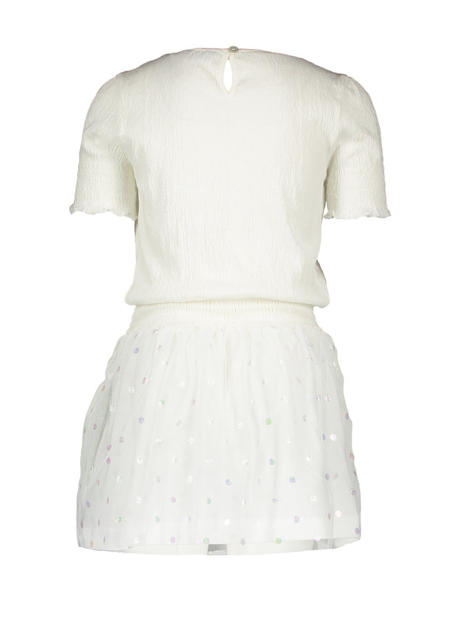 Dress With Tulle Skirt - Warm White