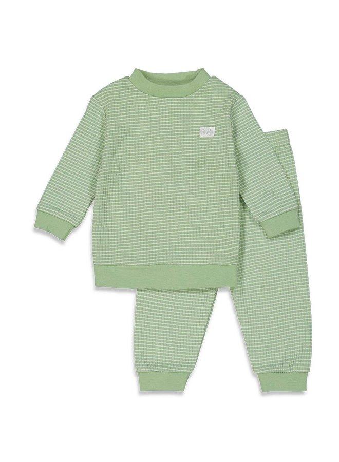 Feetje - Baby Pyjama Wafel - Groen Special