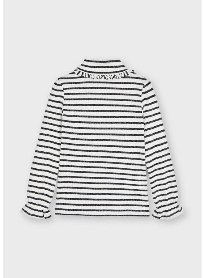 Mayoral - Rib Mockneck Sweater - Natur-blac