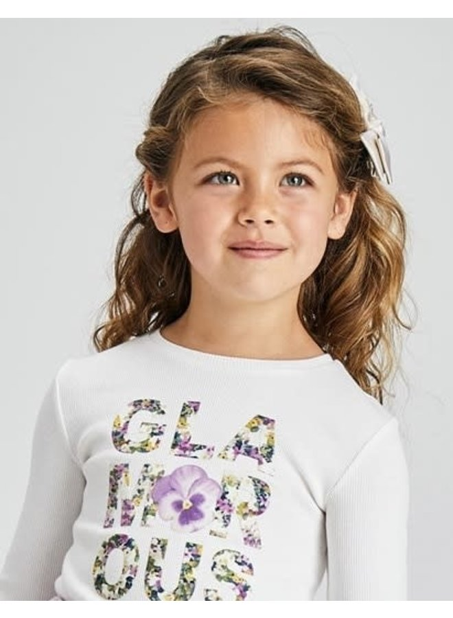 Mayoral - Flower Letters Longsleeve Shirt - Lilac