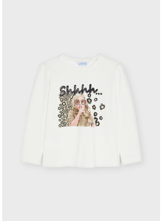 Mayoral - Longsleeve Printed Shirt - Natur-came