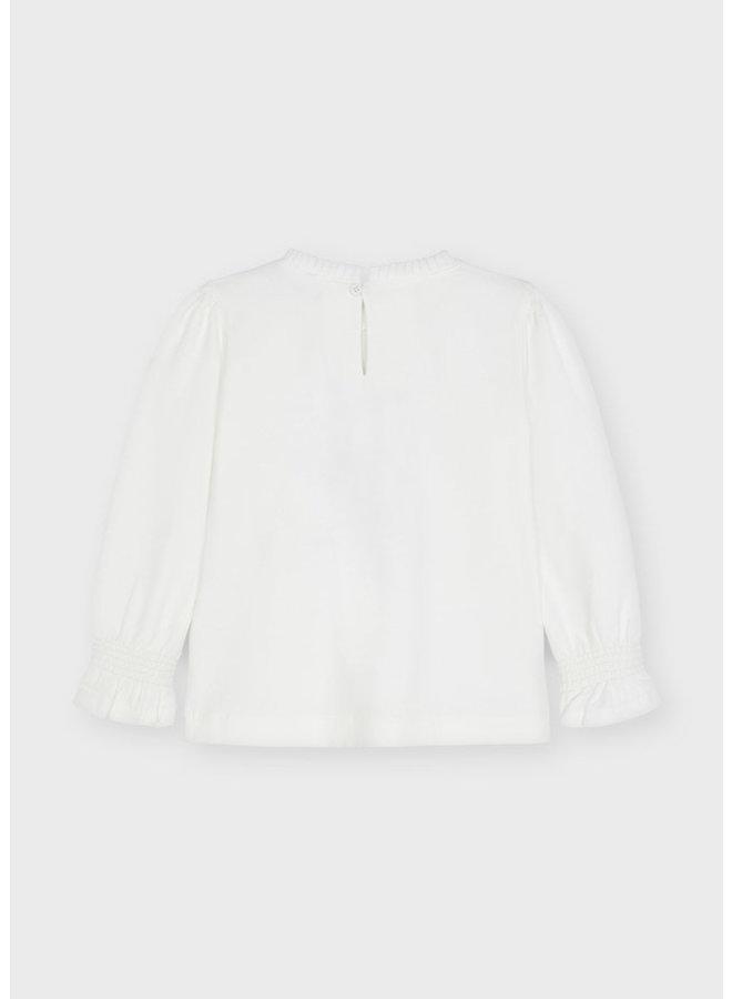 Mayoral - Longsleeve Doll Shirt - Natur-blac