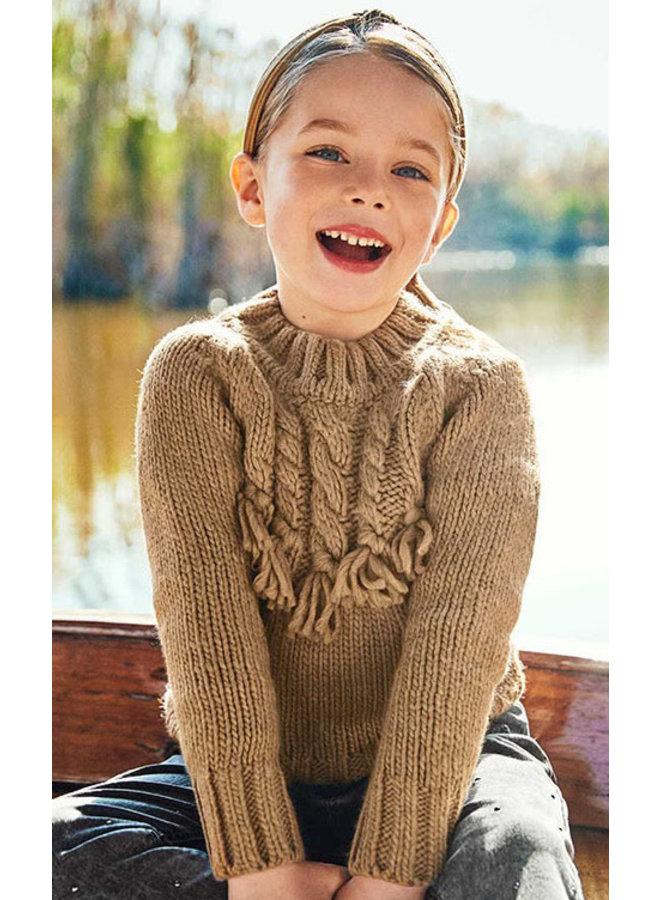 Mayoral - Braided Sweater - Hazelnut