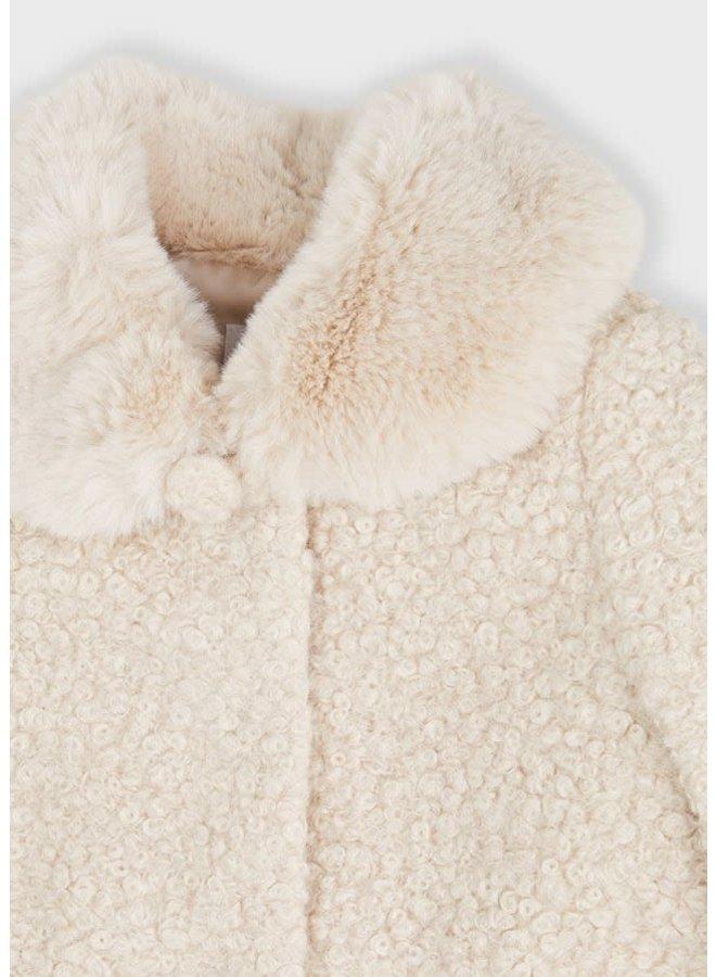 Mayoral - Shearling Coat - Almond