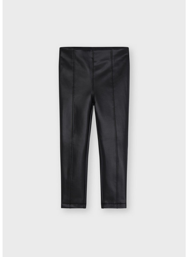 Mayoral - Synthetic Leather Leggings - Black