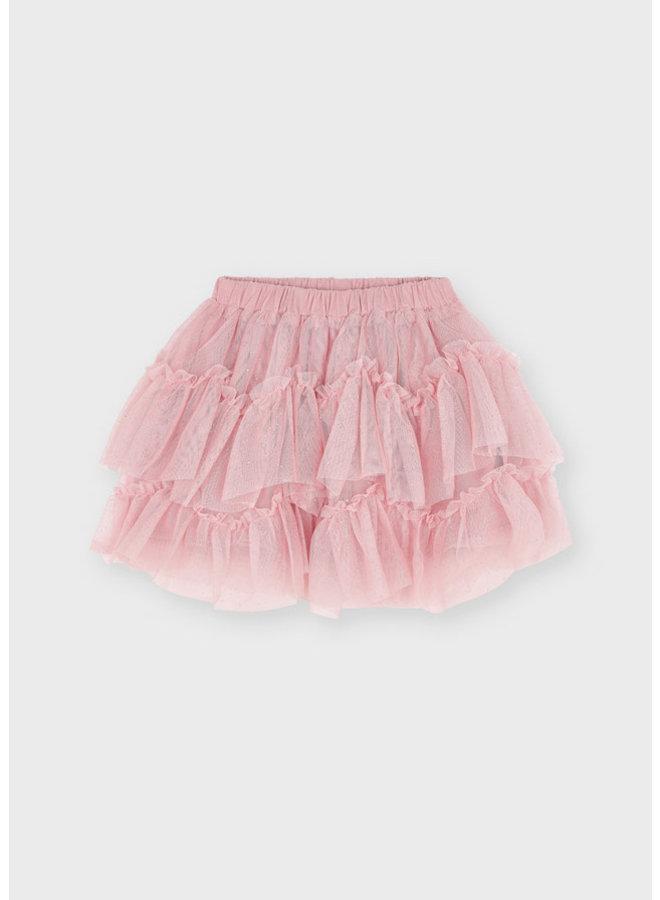 PRE-ORDER - Mayoral - Tulle Glitter Skirt - Blush