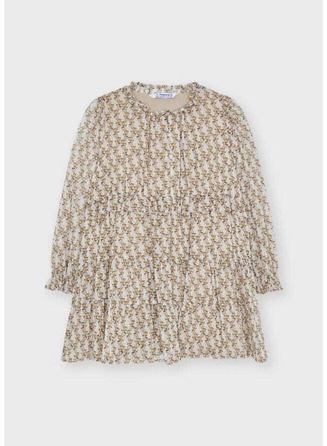 Mayoral - Printed Dress - Almond
