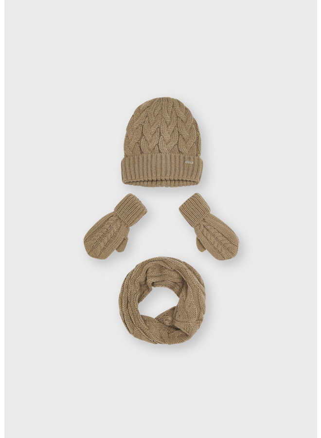 Mayoral - Hat & Scarf Set - Hazelnut