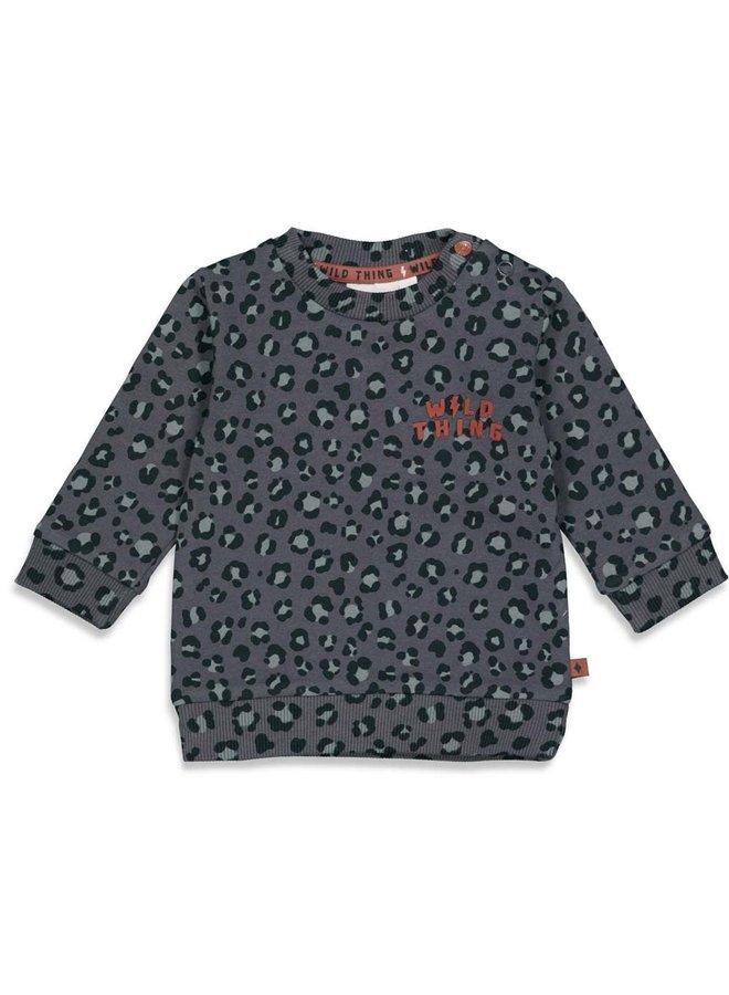 Feetje - Sweater AOP Antraciet - Wild Thing