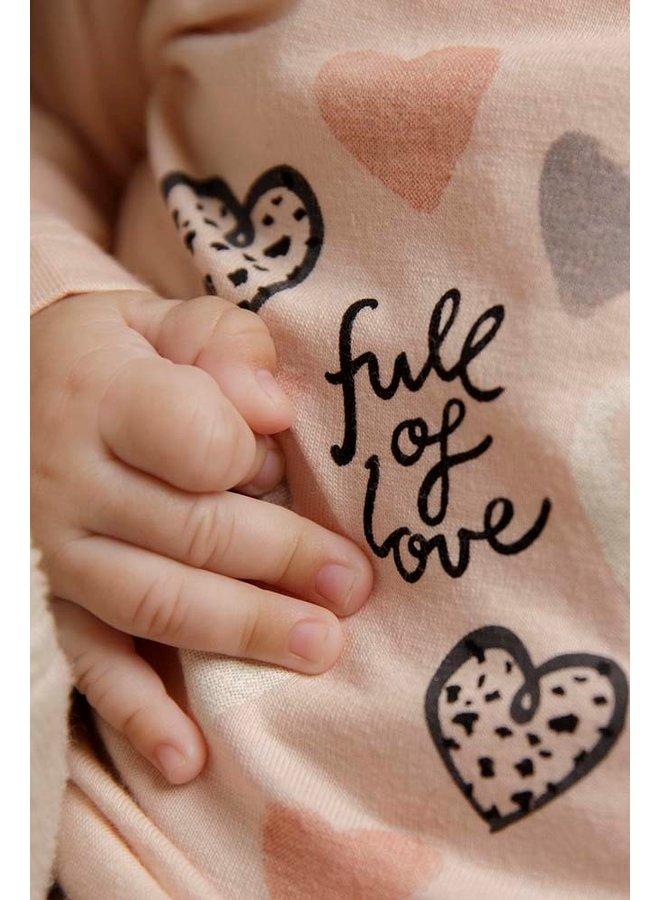 Feetje - Longsleeve Perzik - Full Of Love