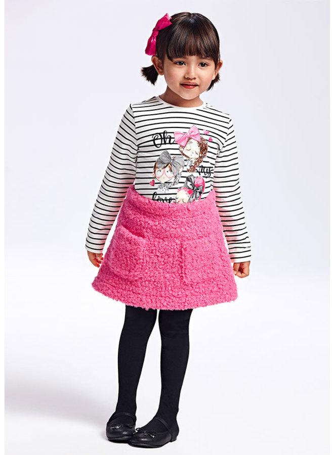 Mayoral - Shearling Skirt Set - Fuchsia