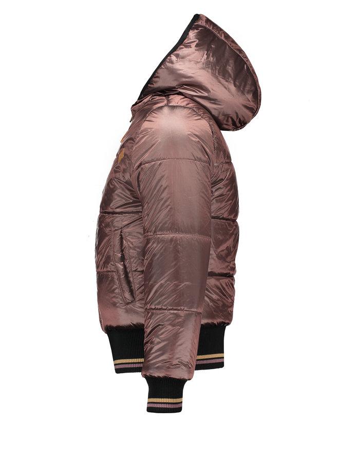 Nobell' - Bombai Reversibe Hooded Bomber Jacket - Army Green