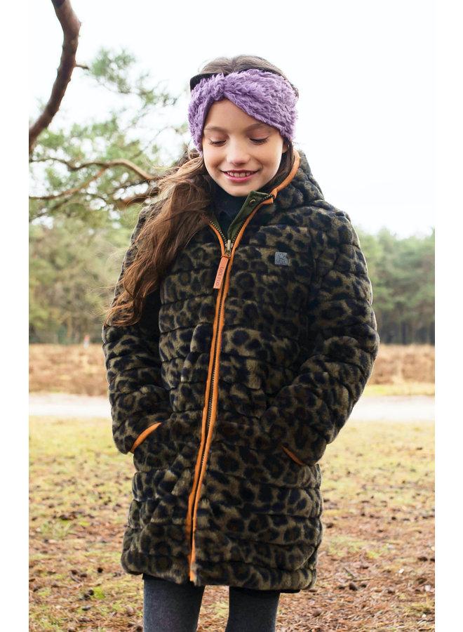 Like Flo - Reversible Hooded Long Jacket - Army