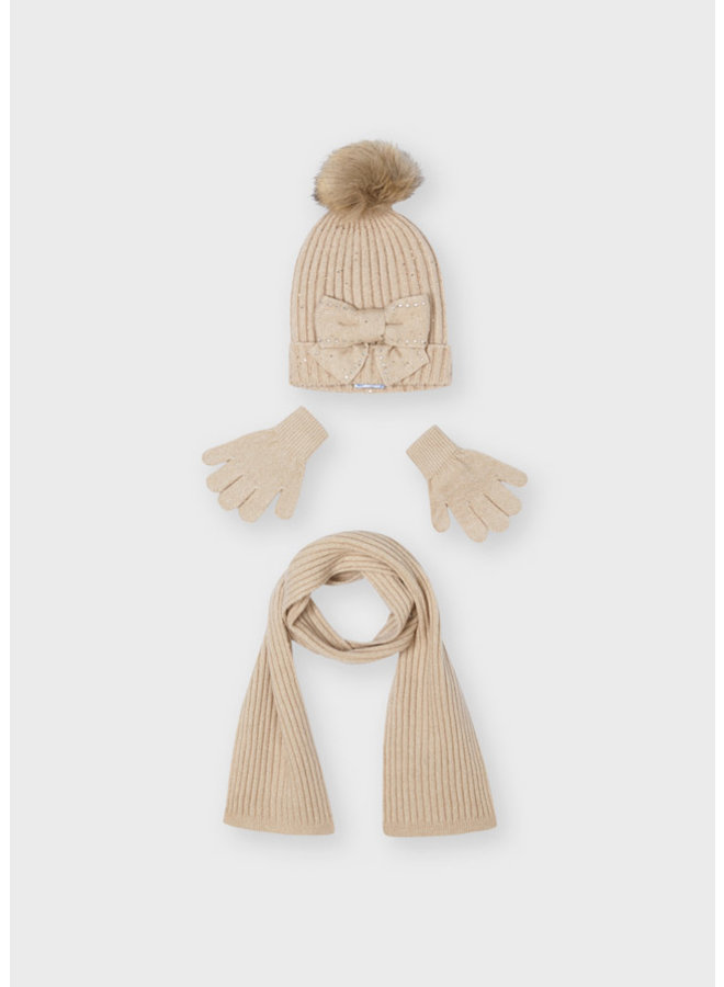 Mayoral - Hat & Scarf Set Bow - H. Cookie