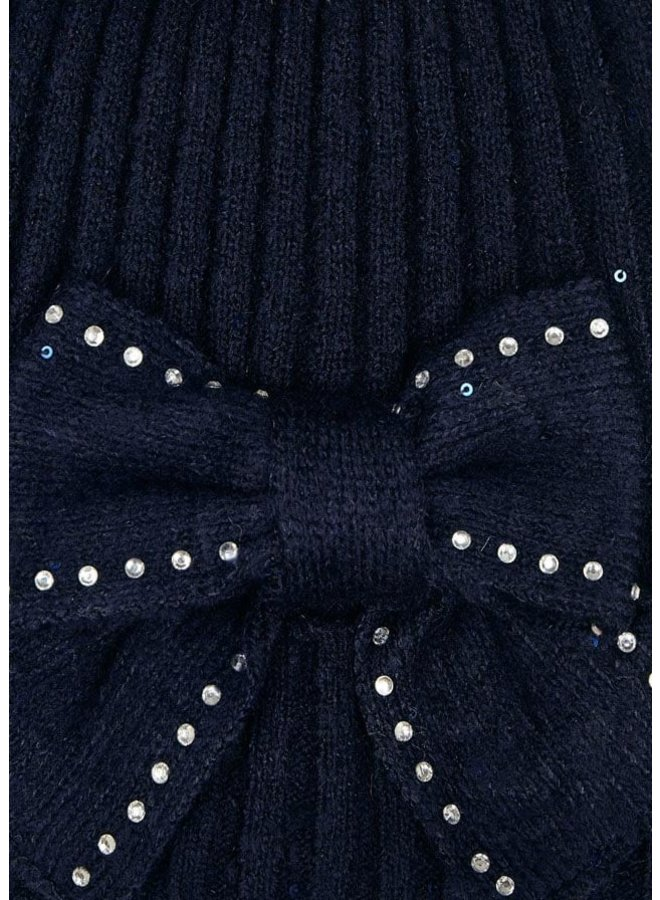 Mayoral - Hat & Scarf Set Bow - Navy