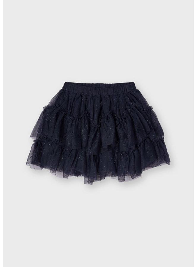 Mayoral - Tulle Glitter Skirt - Navy