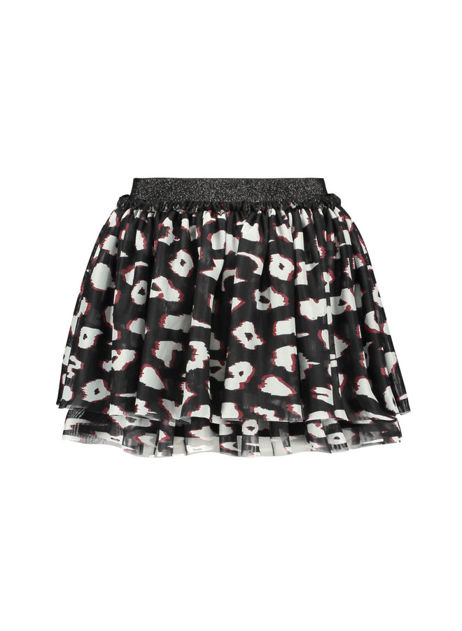 B.Nosy - 2-Layer Netting Skirt - You Leopard