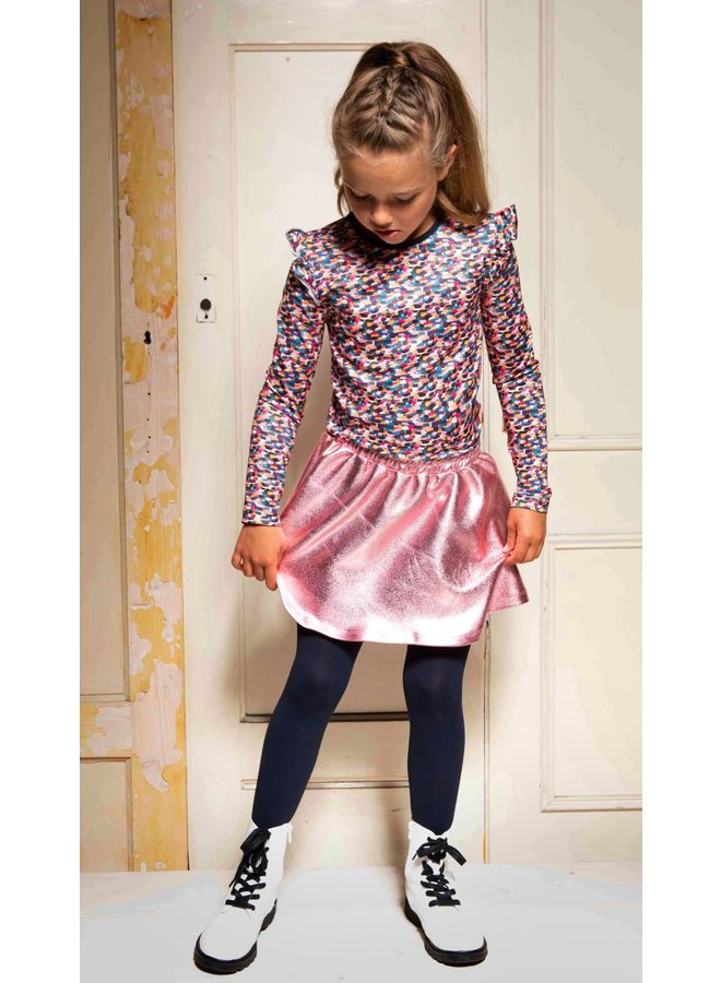 B.Nosy - Spot Dress With Coated Skirt - Sporty Spickles