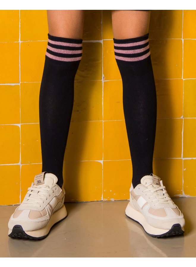 B.Nosy - B.Sporty High Knee Socks - Ink Blue